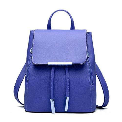 Zainetto da donna, borsa a spalla, in similpelle, da viaggio Blue