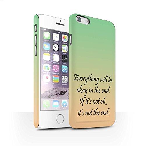 STUFF4 Matte Snap-On Hülle / Case für Apple iPhone 7 Plus / Lavendel/lila Muster / Abstrakt Ombre Kollektion John Lennon Zitat
