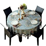 HZPXSB Table Ronde Grande Table Ronde Ovale Table de Salle à Manger Nappe (Color :...