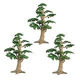 Toyvian 3 Stücke Modell Bäume Kiefern Künstliche Kunststoff Bäume Micro Landschaft Pflanzenornament für Gartenhaus