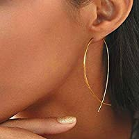 SSEHXL earring Fish Shaped Stud Earrings Simplicity Handmade Copper Wire Earring for Women Fashion Gold Color Earrings for Women