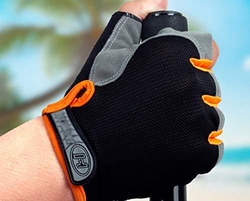 Atr sezione sottile czz, attrezzature per il fitness antiscivolo uomo e donna mezzo dito outdoor alpinismo equitazione guanti sportivi,b,m