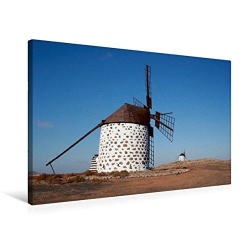 Preisvergleich Produktbild Premium Textil-Leinwand 75 cm x 50 cm quer, Windmühle in Fuerteventura | Wandbild, Bild auf Keilrahmen, Fertigbild auf echter Leinwand, Leinwanddruck: ... Ferieninsel Fuerteventura, (CALVENDO Natur)