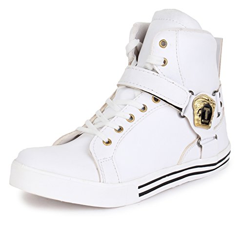 APPE Men's White High Top Shoes - 10 UK