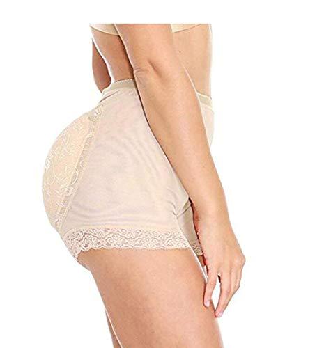 TIANMIAOTIAN Woman Fake Ass, Womens Butt Lifter Gepolsterte Nahtlose Hip Enhancer Shapewear Control Höschen Unterwäsche Körperform,Natural,L (Butt Lifter Und Hip Enhancer)