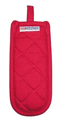 MUkitchen Cotton Hot Pan Handle Cover/Handleslip, 7-1/2 by 3-1/2-Inches, Crimson by MUkitchen