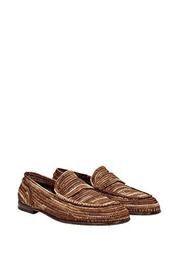 CA6556AF35480037 Dolce&Gabbana Mocassins Homme Raphia Marron clair Marron  Clair ...