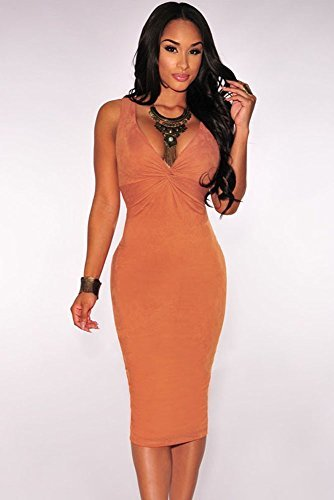 KingField - Robe - Moulante - Femme Orange - Orange
