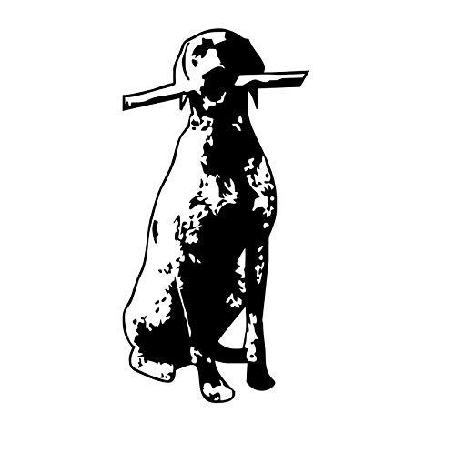 mzdzhp Wandaufkleber [mzdzhp]Lustiger Hund Sitzen Mit Einem Stick Wandaufkleber Für Kinderzimmer Dekoration Abnehmbare Wandkunst Wasserdichte Tapete Aufkleber Wohnkultur 58 * 116 cm -