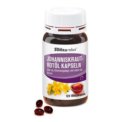 Johanniskraut-Rotöl Kapseln   Entspannung & Geistige Fitness   Kräftigung der Nerven   120 Kapseln
