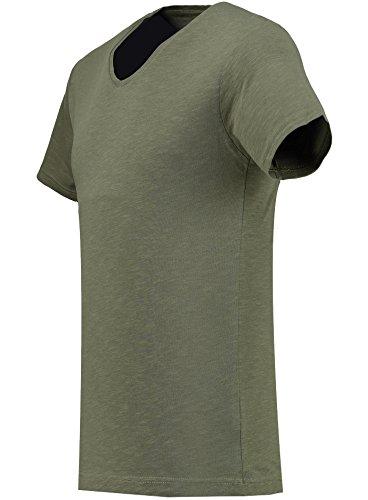 Black Rock Herren T-Shirt - 2er 3er 4er 5er Pack - V-Ausschnitt - Slim-Fit/Figurbetont - Oversize - Meliert - Kurzarm Vintage Shirt Khaki 3er