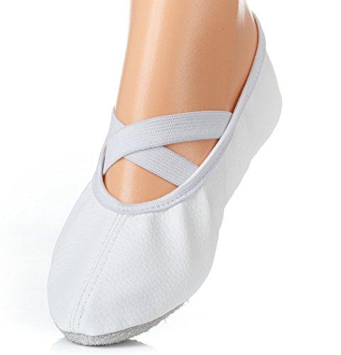Yaro Balettschuhe, Gymnastikschuhe, Turnschuhe, Weiß, Gr. 37