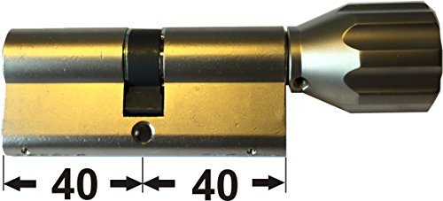 ABUS EC550 Profil-Knaufzylinder Länge Z40/K40mm mit 6 Schlüssel - 2
