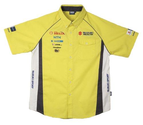 challenge-suzuki-motard-world-rally-sport-race-team-t-shirt-manches-courtes-jaune-x-large