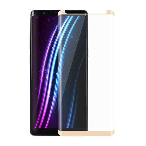 Film Vitre de Protecteur écran Pour Samsung Galaxy Note 8, Protection Verre Trempé Ultra Slim, Facile à Poser, Ultra Clair Haute Transparence et Ultra Résistant, Film Protection, Doré