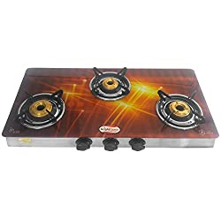 brightflame 3 Burner Digital Glass Stove Manual Ignation