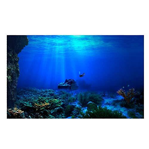 Acquario Sfondo HD Sottomarino Coral Reef Foto Carta da Parati Acquario Pesce Mare Murale XXL Sottomarino Underwater Mondo Decorazione della Parete(122 * 61cm)