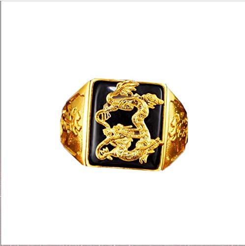 Lf yanrr uomini anello anelli uomo con gioielli in pietre dure oro-pietra agata tile anello