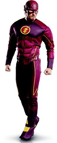 KULTFAKTOR GmbH The Flash Deluxe Kostüm Lizenzware rot-gelb M / L (Deluxe Kind Flash Kostüm)