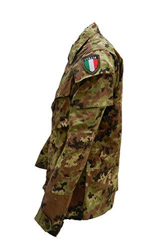 ALGI Completo Tuta Militare da Combattimento Ripstop di Polyfilo Vegetato Mimetico TG. 46