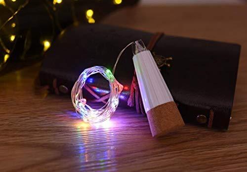 Table lamp LED-Korkflasche Fairy Light, wiederaufladbare USB-Batterie, Kupfer String Stern LED-Licht Küche, Hochzeit, Weihnachten, Partydekoration (warmes Weiß) (Farbe : ()