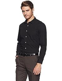 Amazon Brand - Symbol Men's Formal Solid Regular Fit Shirt