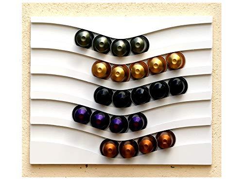 Capstores accessori porta-capsule nespresso capsules 50 (bianco)