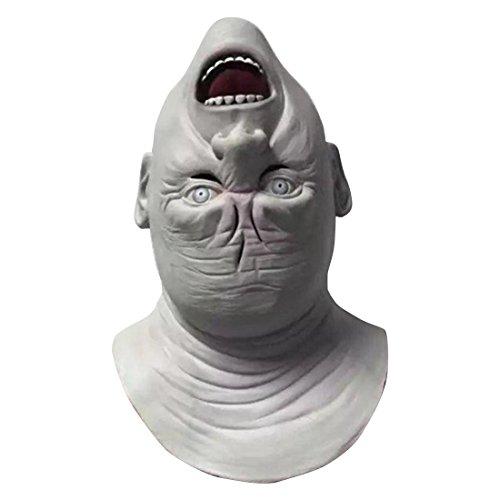 Gruselige Masken Blass Horror Kopf auf Den Kopf gestellt Halloween Kostüm Streich Maske (Blass Halloween Kostüme)