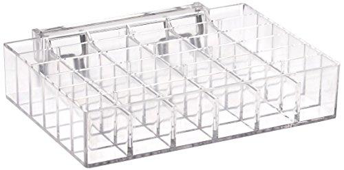 Azar zeigt 225529-2Pack 18,1cm W x 12,7cm D x 3,8cm H 36-compartment Tablett-jedes rechteckig Slot Maßnahmen 2,5cm W x 1,6cm H (2Pack) 36 Slot Display-trays