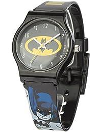 Batman BAT5DC - Reloj de cuarzo, para niño, con correa de plástico, color negro con diseño de Batman