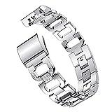 Bracelet à la Mode, fittingran Remplacement Fitbit Charge 2Sangles Femme Bracelet en métal/Bracelet/Accessoires/Ceintures/Manchette pour Charge Fitbit HR 2Small Large Silver Rose Or Noir Argent