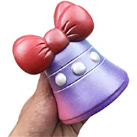 Squishys Grandes kawais,12x8.8cm Suave Juguetes de Campana de Navidad Squishies Squeeze Toy Slow Rising Decompression Stress Relief Juguete Regalo para niños y Adultos,de Gusspower
