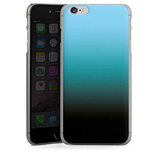 Apple iPhone X Silikon Hülle Case Schutzhülle Blau Schwarz Farbverlauf Hard Case anthrazit-klar