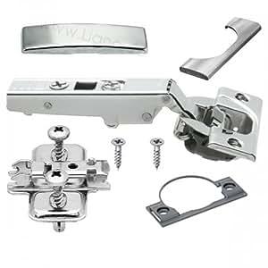 Blum Clip Top Blumotion 71B3550 Charnière avec système d'amortissement intégré pour porte en applique Livrée avec plaque de montage, caches, vis et distance boîtier