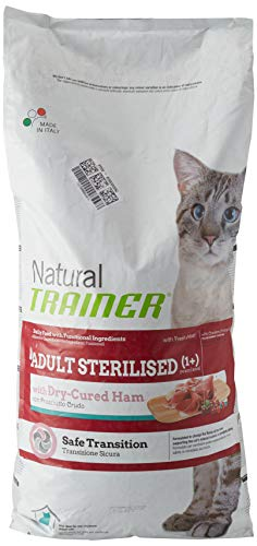 Trainer Natural Cat Adult Sterilised con carni Bianche con prosciutto Crudo 12,5KG