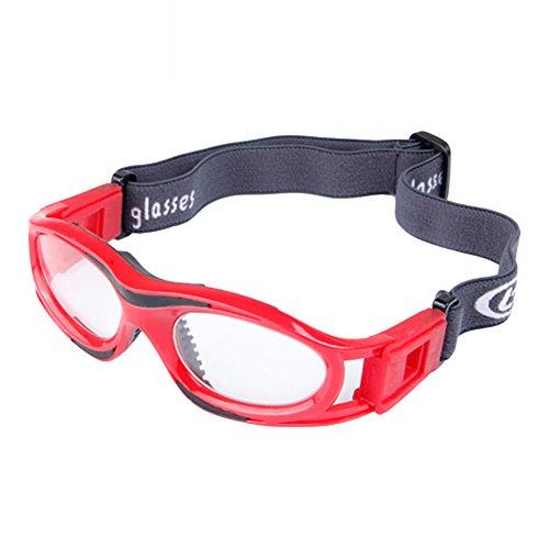 zhouba Kid Sport Brillen Eyewear Basketball Schützen fußball Soccer Elastic Band Gurt, rot, Einheitsgröße