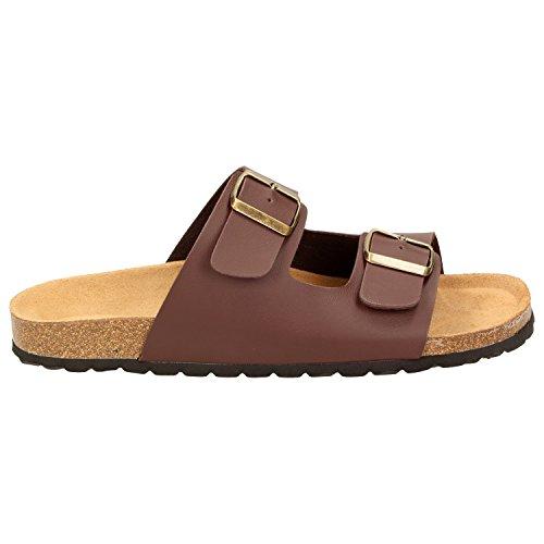 BOWSErnie - Pantofole Uomo Marrone