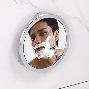 iDesign Kosmetikspiegel mit Saugnapf, kleiner beschlagfreier Duschspiegel aus verchromtem Metall, runder Rasierspiegel für Bad und Dusche, silberfarben