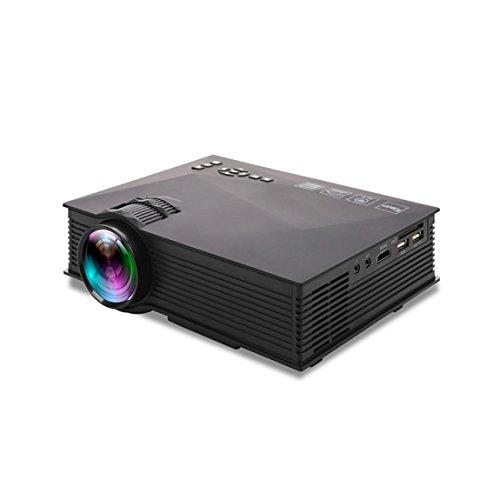 LCD Beamer, UC46 1080P HD, Multimedia Heimkino Video Projektor Unterstützung HDMI USB SD Karte AV