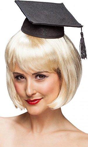 Abschlussball Professor Lehrer Doktorhut Kostüm Mini Hut Kostüm Outfit Zubehör (Sexy Professor Kostüme)