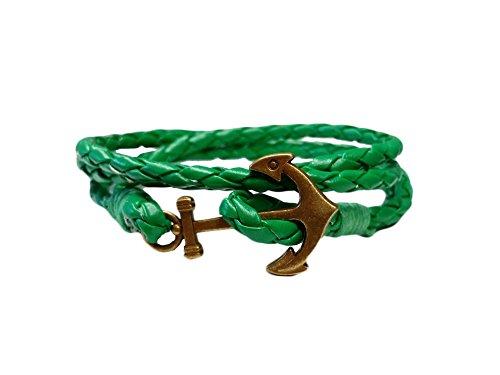 La Loria Armband Anker in Grün-Gold, maritimer Modeschmuck als Accessoire Oder Geschenk