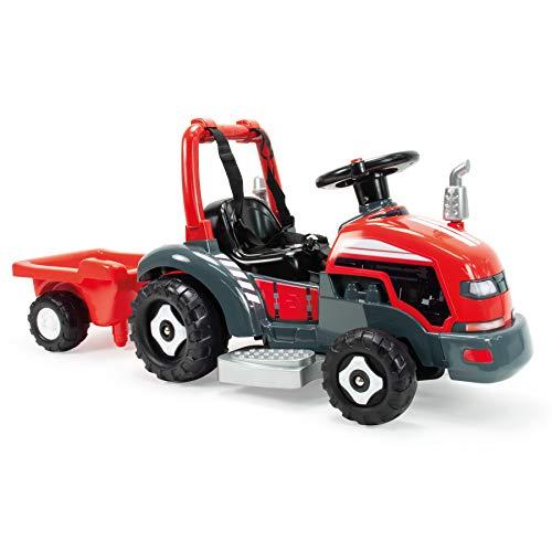 INJUSA- Tractor Little 2 en 1 Eléctrico de 6V y Correpasillos para Niños Entre 1 y 3 Años, Color Rojo (1505)