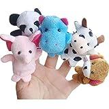 ZORE  Juguetes Gift 10pcs Animal Finger Puppet Plush Niño Bebé Educación Temprana Toys (AS Show)