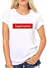 Idea Regalo - Puzzletee T-Shirt Festa dei Nonni Supernonna - Magliette Simpatiche e Divertenti - Idea Regalo