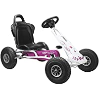 Ferbedo Air Runner Pneumatic Tyres Go Kart (Pink/ White)