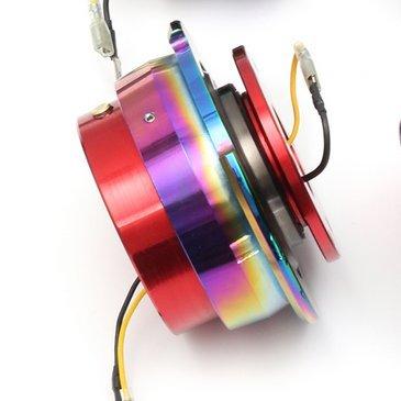 GOZAR Universel Car Racing Anneau en Acier Roue Quick Release Hub Adapter Snap Off Kit Boss-Rouge