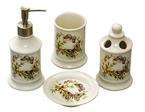 Accessori Bagno Vintage : Gmmh set di accessori da bagno vintage in stile rustico in