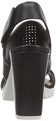 Clarks - Pastina Malory, Scarpe col tacco Donna Nero (Black Leather)