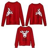 Weihnachten Familie Pyjamas Outfit Schlafanzug Nachtwäsche Damen Herren Baby Säugling Family Kleidung Zuhause Matching Set Xmas, Mama&Me passendes niedlich Hirsch Top Bluse(Dad,XX-Large)