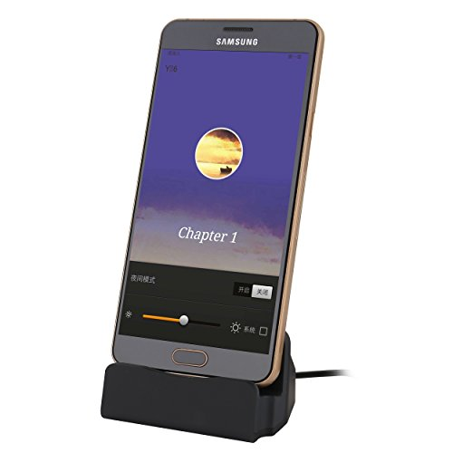Liamoo Dockingstation Micro-USB Docking-Station Daten- u. Ladestation für Android Handy Samsung, HTC, Sony, Huawei usw. in Schwarz